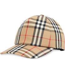 burberry check print baseball cap - neutrals