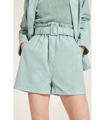 motivi shorts paper bag in similpelle donna blu