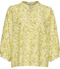 blouse flanja geel