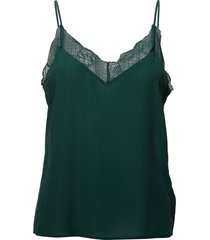 malvia singlet ao18 blouse mouwloos groen gestuz