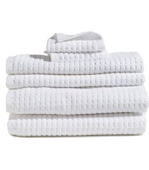 dkny 6-piece bath towel, hand towel & washcloth set in white at nordstrom