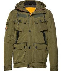 icon military service jacket parka jas groen superdry