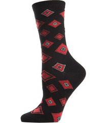 natori obi crew socks, women's, black, cotton natori