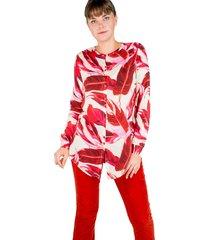 camisa manga longa modisch pink&red - kanui
