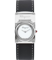 women's salvatore ferragamo boxyz leather strap watch, 23mm x 39mm