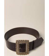 etro belt etro leather belt with maxi buckle