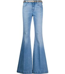stella mccartney belted flared jeans - blue