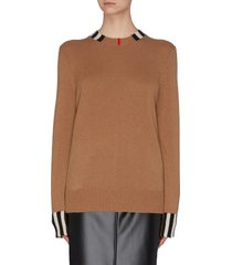 stripe detail cashmere sweater