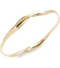 classico 18k yellow gold twisted ribbon bangle bracelet