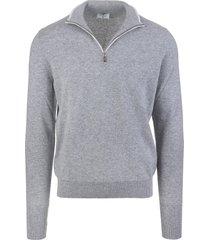 fedeli grey favonio vintage pullover