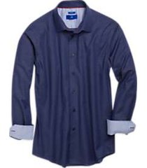 egara navy diamond jacquard sport shirt