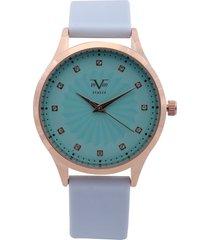 reloj azul-dorado-verde versace 19.69