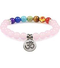 manilla pulsera equilibrio cuarzo rosa om 021908