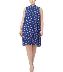 anne klein plus size lily printed dress