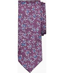 corbata floral morado brooks brothers