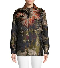 metallic tie-dye jacket