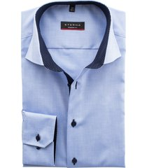 eterna mouwlengte 7 shirt blauw modern fit