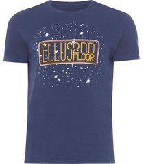 camiseta masculina basic space - azul