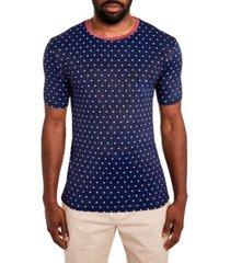 tallia men's slim fit dot stretch t-shirt