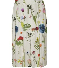 moschino floral print pleated skirt