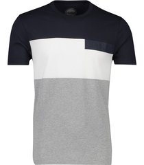 colmar t-shirt grijs wit navy