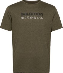 agile graphic tee m t-shirts short-sleeved grön salomon