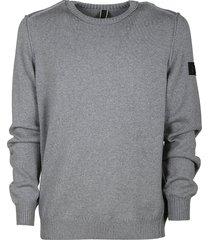 hogan sleeve patch sweater