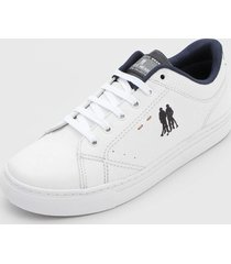 sapatênis polo wear logo branco - kanui