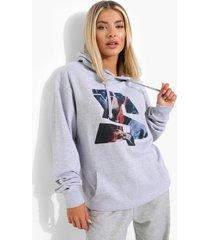 gelicenseerd oversized ty dolla sign hoodie, grey marl
