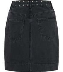 denim rok studs mini
