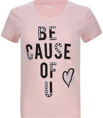 camiseta be cause of u color rosado, talla l