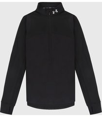 buzo negro-blanco under armour w qualifer half zip