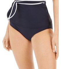 tommy hilfiger tied high-waist bikini bottoms women's swimsuit