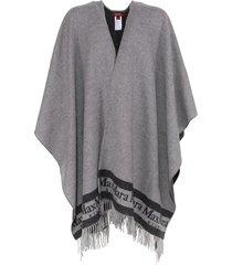max mara poncho in grey wool