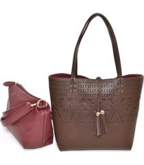 imoshion handbags women's bag in bag tote detailed with lasercut