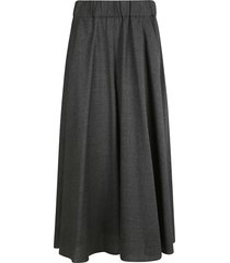 aspesi ribbed waist skirt