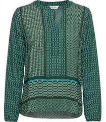 blouse long-sleeve blouse lange mouwen groen gerry weber edition