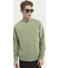 scotch & soda gemêleerde felpa sweater met ronde hals