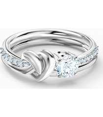 anello lifelong heart, bianco, placcato rodio