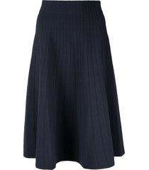 casasola high waisted ribbed skirt - blue