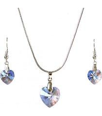 conjunto celeste swarovski crystals gloss crystal