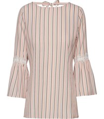 blouse 3/4-sleeve blus långärmad rosa taifun