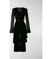 marc jacobs the marc jacobs ruffle dress w/jumpsuit lining