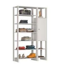 estante closet nova mobile ey103 yes 1 porta e 9 nichos
