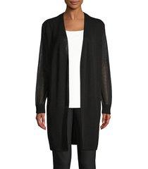 lafayette 148 new york women's sheer voile cardigan - cloud - size xs