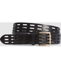 reiss taylor - leather cut work belt in black, womens, size l