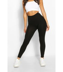 basic naadloze legging in kleine maat, zwart