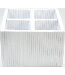organizador porta talher fibra sintã©tica 20x20x14 - branco - branco - dafiti