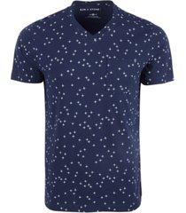 sun + stone men's allover cross patterned t-shirt, created for macy's