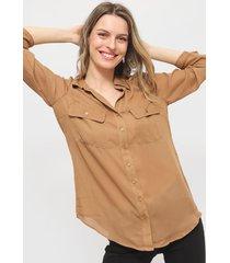 blusa wados marrón - calce holgado